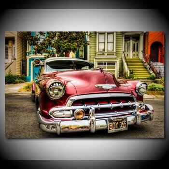 Vintage chevrolety retro samochód plakaty Modern Wall Art obraz na płótnie plakaty i druki na wystrój salonu