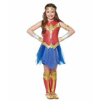 Dawn Of Justice Wonder Woman Cosplay Costume For Girls Wonder Woman Carnival Halloween Costume For Kids Short Sleeve Dress Child цена 2017