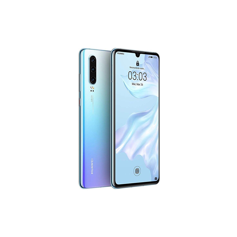 Huawei P30, Color Glass/Nacre (Breathing Crystal), Dual SIM, 128 GB Memoria Internal, 6 Hard GB RAM, Screen 6.1