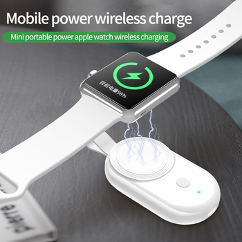 portable mini wireless charger for iwatch pocket magnetic charging dock station usb qi charger for apple watch series 1 2 3 4 Portable USB Charger for Apple Watch Fast Charging Dock Station Adapter Magnetic Wireless Charger mobile power for iWatch SE 654