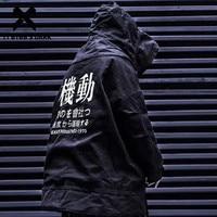11 BYBB'S DARK Detachable Letter Printed Mens Hooded Parkas Hip Hop Thick Padded Jackets Harajuku Ribbons Windbreaker Streetwear