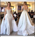 Mermaid Wedding Dress 2018 Real Photo Handmade Flowers Royal Train Off the Shoulder Appliques Lace Bridal Gowns NOW19001