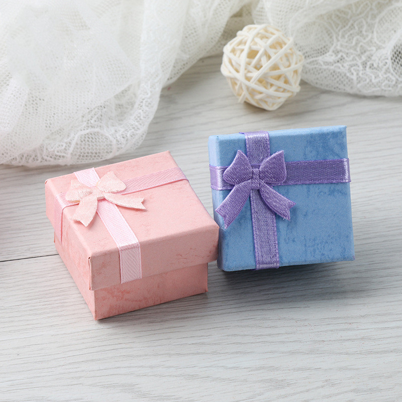 2pcs Necklace Earrings Ring Packaging Jewelry Paper Gift Box Accessories Packaging Paper title=