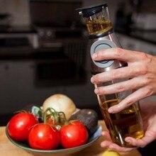 Пресс-тип Дозирующее масло бутылка масло, полезное для здоровья бутылка кухонная утварь измерение давления чайник чашка бытовые принадлежности