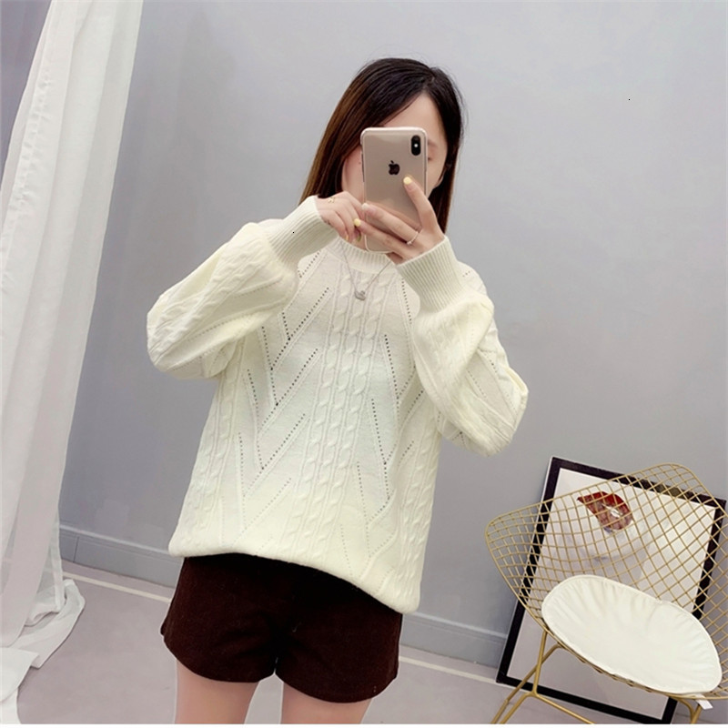 Twist Popular Solid All Match Pull Femme O-Neck Knitted Sweater Pullover Autumn Knitwear Sueter Mujer Long Sleeve Winter Women