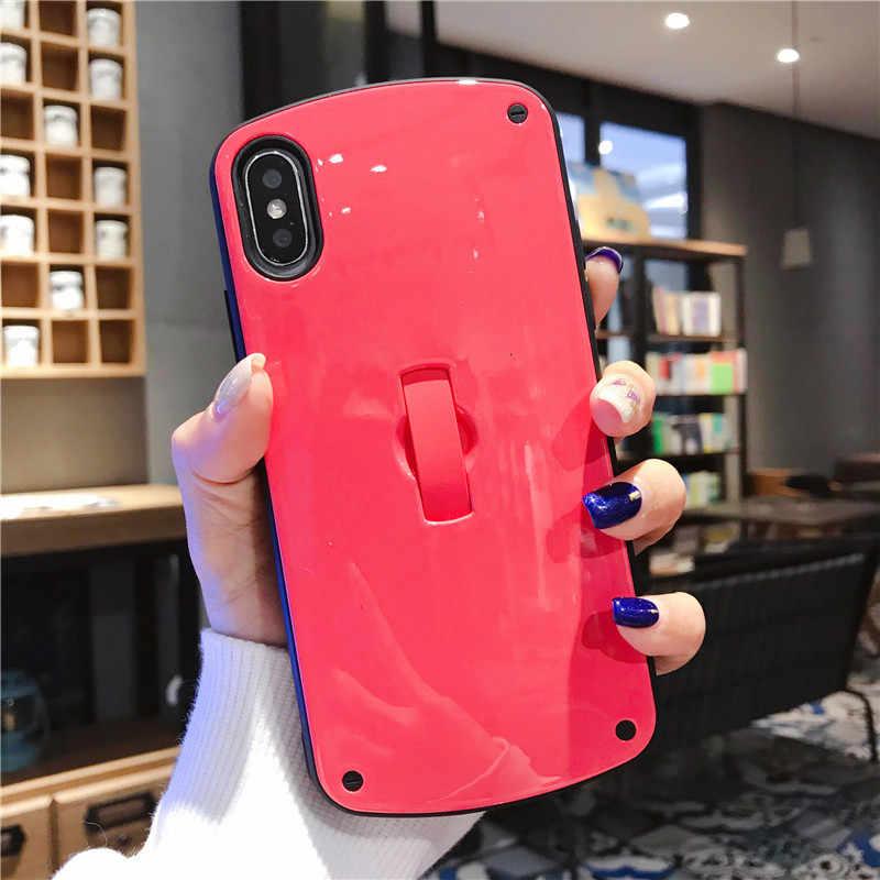 IMIDO מוצק צבע סגלגל מקרה עבור IPhone 11pro מקסימום X XR XS מקס פשוט אופנה מקרה עבור IPhone 7 8 בתוספת 6 6splus