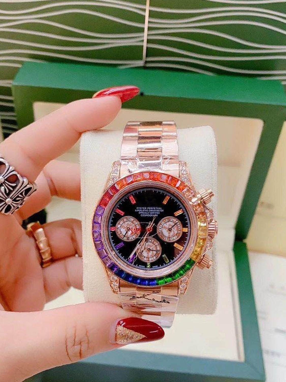 top brand Luxury Watch AAA full diamond rlx men Watch Waterproof Automatic Mechanical Watch Stainless Steel Automatic Wristwatch