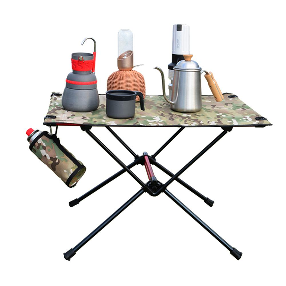 Portable Foldable Camping Table Outdoor Furniture Computer Bed Tables Picnic Aluminium Alloy Ultra Light Folding Desk for Party