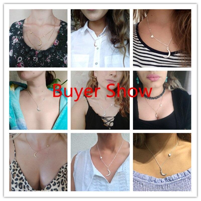 Ahmed, простое ожерелье с подвеской в виде звезды и Луны для женщин, новинка, Bijoux Maxi, массивное ожерелье, модное ювелирное изделие