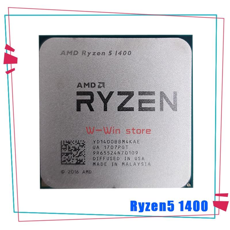 AMD Ryzen 5 1400 1400 GHz Quad Core 3.2, YD1400BBM4KAE prise AM4, R5 processeur d'unité centrale |