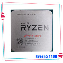 Processador amd ryzen 5 1400 r5 1400 ghz, cpu quad-core com soquete am4
