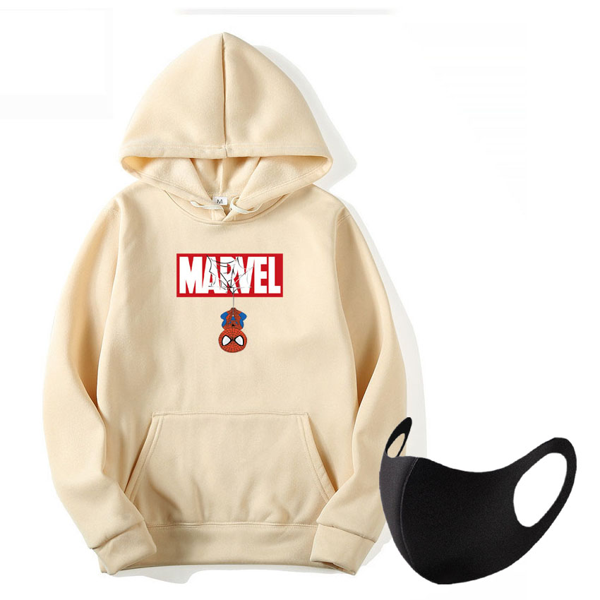 Fashion MARVEL Hoodies Spiderman Men Hoodie Sweatshirts Tops Casual New Male Tracksuit The Avengers Pullovers  Autumn Winter