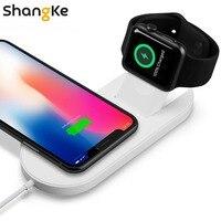 빠른 무선 충전기 애플 시계 3 iwatch iphone X 8 8 플러스 2 1 빠른 무선 usb 패드 전화 어댑터 충전기