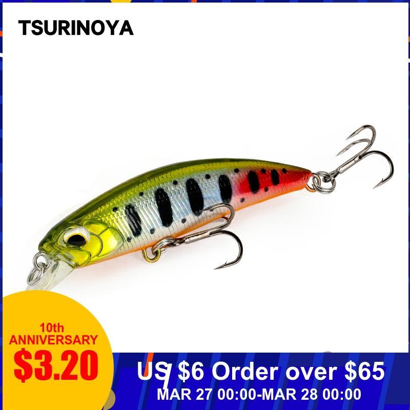 TSURINOYA Sinking Minnow 60S 60mm 6.1g DW67 New Fishing Lures Professional Hard Lure Pencil Wobbler Crankbait Bass Pike Baits