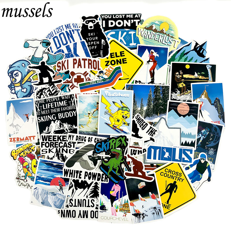 70Pcs Sports Fashion Ski Sticker For Scrapbooking Motorcycle Ski Luggage Computer Motorcycle Toy Suitcase Children Sticker