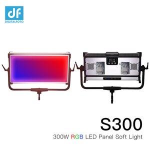 Image 2 - S300 كامل اللون لوحات ليد أحمر أخضر أزرق مستمر فيديو لينة ضوء 2800 9990k APP التحكم يعتم مع 12 تأثير اللون للاستوديو