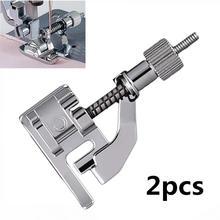 2 piezas accesorios de costura Universal dobladillo ciego prensatelas multifunción Metal doméstico prensatelas herramientas de costura 5BB5276