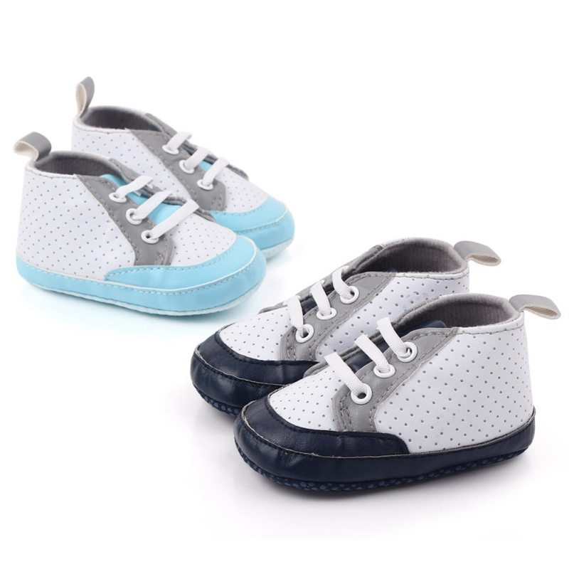 Toddler Infant Boy Girl Anti-slip Sole Crib Shoe Sneaker Newborn for 0-12M Baby
