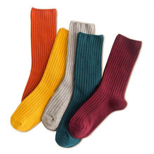 Women Socks Japanese Autumn Striped Winter Cotton Fashion for Female And 1-Pair Lady