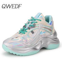 Chunky Fashion Sneakers Platform Women Thick Sole Ladies Female Chunky Shoes Women Casual Vulcanize Platform Sneakers Z5 76