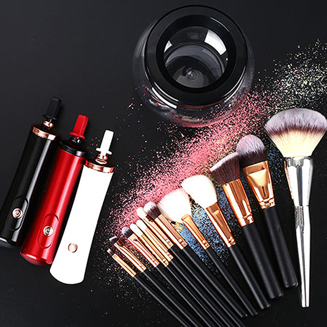 Electric Makeup Brush Cleaner Convenient Silicone Make up Brushes Washing Cleanser Cleaning Tool Machine Cleaner Device 3