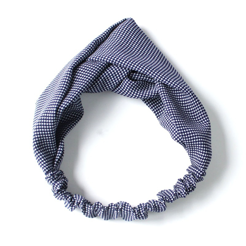 Fashion Women Cloth Bow Knot Cross Hair Band College Style Cotton Sweet Small Plaid Headband Hair Accessories for Girls in Women 39 s Hair Accessories from Apparel Accessories