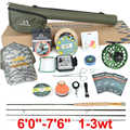 Maximumcatch Maxcatch v-feather Fly Fishing Rod Kit and Fly Reel Complete Outfit Light Weight Small Stream Creek