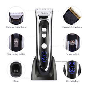 Image 4 - Professional Hair Trimmer for Men Rechargeable Electric Hair Clipper with Limit Combs Length Adjustable Ceramic Blade 35