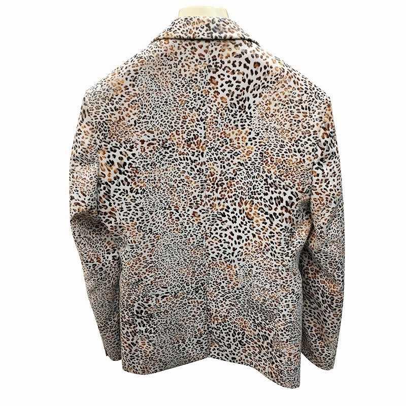 Frühling Leopard Einzelnen Koreanische Slim Fit Nacht Frisur Division Casual Blume Mode Mann Anzug Blazer Masculino