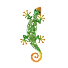 Metal Gecko Wall Decoration for Garden Outdoor Animal Statues or Home Wall Decorative Sculptures