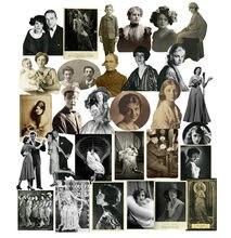Adesivo vintage para álbum de fotos, 30/unidades/pacote retrô, filme preto e branco, adesivo de vellum para faça você mesmo, artesanato, álbum de recortes, jornal, adesivos decorativos