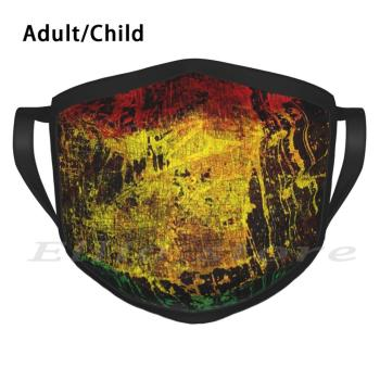 Space Reggae 2 Adult Kids Anti Dust DIY Scarf Mask Rasta Open Air Ska Africa Music Rasta Irie Jamaica Zion Reggae Faith image