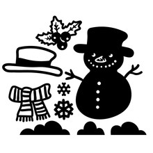 Diyarts Snowman Metal Cutting Dies for Craft Scrapbooking Embossing Die Cut Stencil Christams Decoration