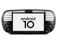 Black color Auto android 10 car gps radio Fit Fiat 500 multimedia player bluetooth DSP video device split screen tape recorder