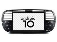 Color Negro Auto android 10 GPS para coche radio ajuste Fiat 500 reproductor multimedia bluetooth DSP dispositivo de vídeo dividido cinta para pantalla grabadora