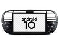 Schwarz farbe Auto android 10 auto gps radio Fit Fiat 500 multimedia player bluetooth DSP video gerät split bildschirm band recorder