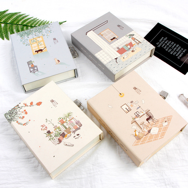 Cats Holiday Diary With Lock Notebook Cute Functional Planner