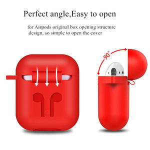 Image 2 - Soft Silicone Case For Apple Airpods Shockproof Cover Earphone Case For Air Pods  Protective Cover Waterproof