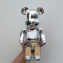 28Cm Bearbrick 400% Be@rbrick Gloomy New Year's Gift Home Decoration Tide Play Model Plating Resin Electronic Games Kids Toys