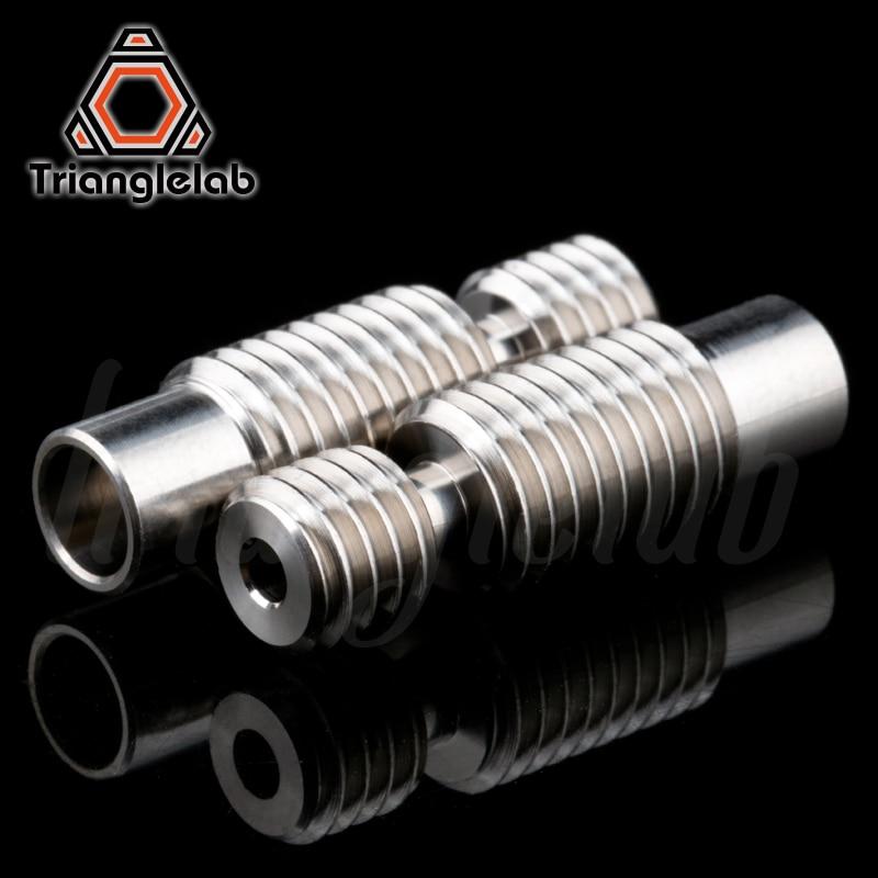 Trianglelab NIEUWE hoge kwaliteit GRADE5 V6 titanium legering warmte breken voor E3D V6 HOTEND heater blok 1.75MM Filament Glad