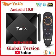 Android 10.0 TV, pudełko Android 10 Allwinner H616 Tanix TX6S Max 4GB RAM 64GB ROM QuadCore 6K podwójny Wifi TX6 odtwarzacz multimedialny Youtube
