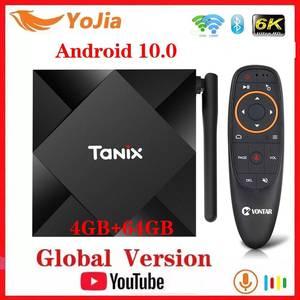 Image 1 - Tanix tv box TX6S Max reprodutor de mídia, Allwinner J616 Android 10.0, 4GB de ram e 64GB de rom, quadcore wi fi duplo TX6, Youtube