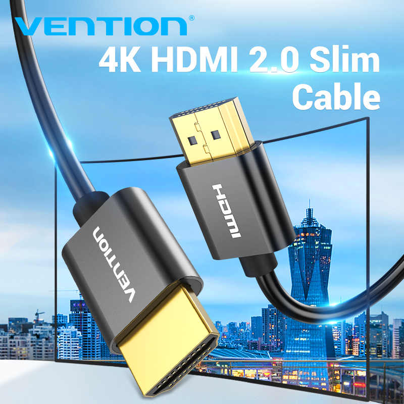 Kabel HDMI Vention 4K 3D HDMI 2.0 kabel do xbox 360 PS3 4 pro Set-top Box przełącznik do nintendo żarówka jak HDTV 4K Slim HDMI 2.0 kabel