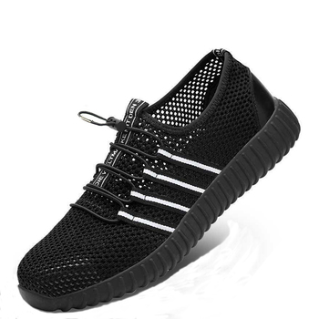 2121 Shoes Fashion Safety Shoes Men Breathable Mesh Anti-smashing Piercing Lightweight Steel Toe Cap Wear Site Work Shoes 37-57