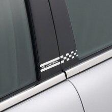 Autocollants décoratifs réfléchissants pour piliers B de voiture, 2 pièces, accessoires en vinyle imperméables pour couverture de colonne Hyundai Elantra