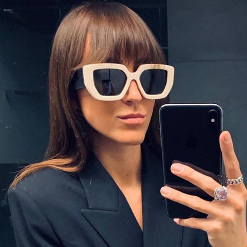 2020 Vintage Fashion Square Sunglasses Women Men Famous Luxury Brand Designer Big Frame Gradient Sun Glasses For Female UV400