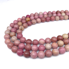 Free Shipping Natural Stone Red Rhodonite Round Beads 15 Strand 4 6 8 10 12MM Pick Size For Jewelry Making Fctory Price