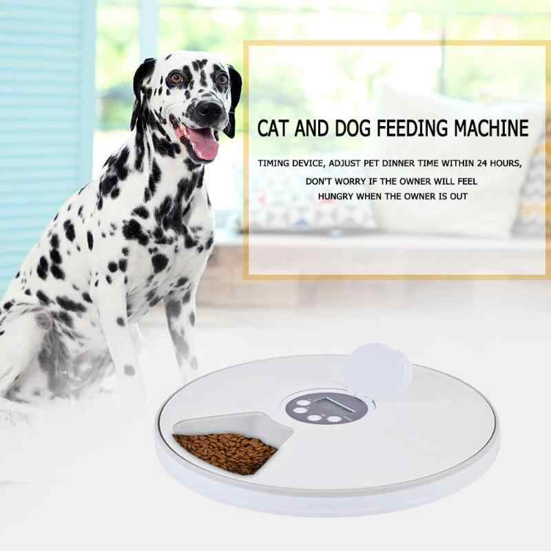 Alimentador automático Para Animais Alimentador Sincronismo 6 Refeições 6 Grades Cão Gato Elétrico Dispensador de Comida Seca Prato Feed 24 Horas de Temporizador dropshipping