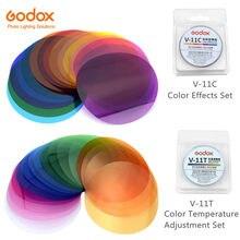 Godox V 11C V11C או V 11T V11T צבע מסנני AK R16 או AK R1 תואם עבור Godox V1 פלאש אור Speedlite