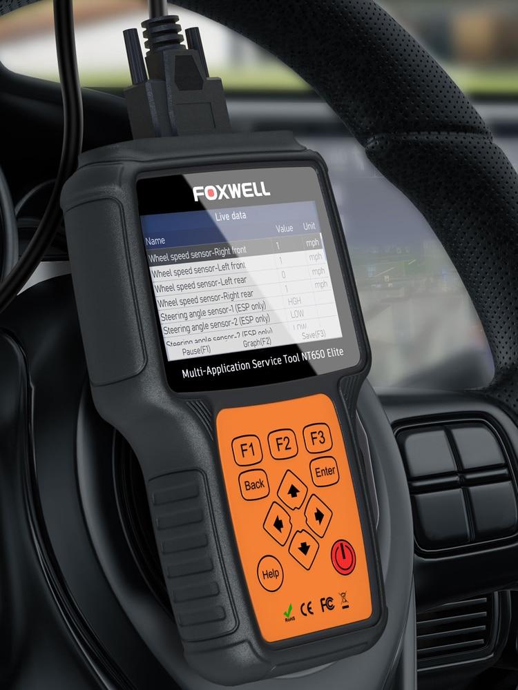 FOXWELL Code-Reader Car-Diagnostic-Tool Obd2-Scanner Oil-Reset DPF Professional Elite